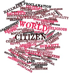 Word cloud for World citizen