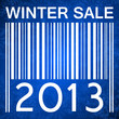 winter sale vector banner with barcode