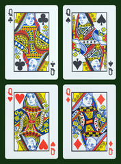 Playing cards - Queen