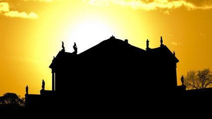 Italy Vicenza Villa Capra golden sunset
