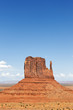 vertical view of famous Monument Valley