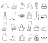 Accessories icon set