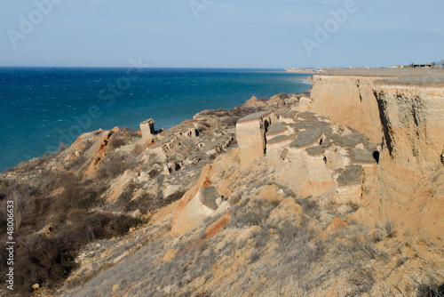 Landslide on the West Coast of the Crimea