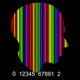 COLORFUL bar code profile head , VECTOR