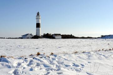Leuchtturm Kampen, Sylt, Nordsee, Insel, Schnee, Nordfriesland
