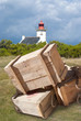 Lighthouse and crates
