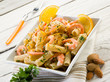 pasta with shrimp orange peel and almond