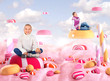 Two girls in a Candy land, bonbons