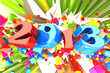 illustration of Happy New Year background for 2013