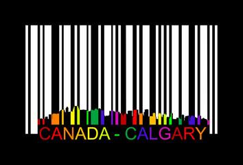 canada calgary barcode, vector