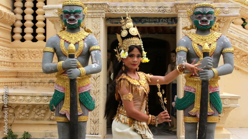 Apsara Dancer seductive supernatural female in asian mythology