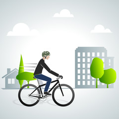 Urban Cyclist 1 Vector version
