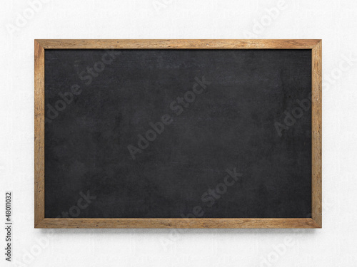canvas print picture Blank old blackboard