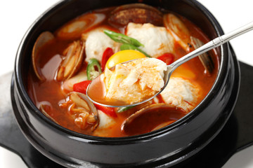sundubu jjigae, korean soft tofu stew