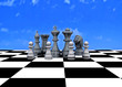 Chess on outdoor chess - 3D