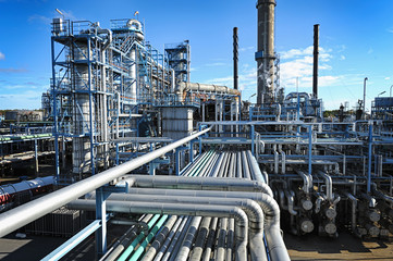 overall view of oil and gas installation
