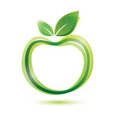 green apple logo-like icon
