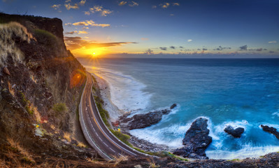 Crépuscule au Cap Champagne - La Réunion