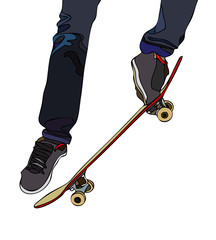 Evolutions on board skateboard