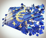 The European Union jigsaw puzzle  points economic crisis