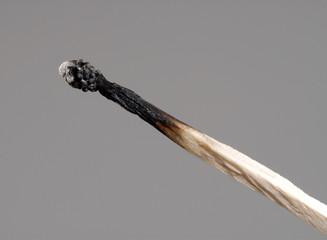 Cerillo quemado.