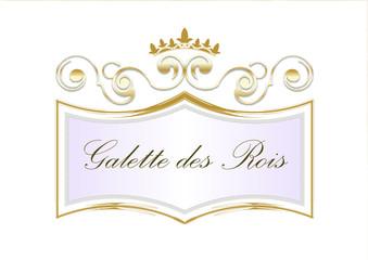 Blason galette des rois or - Epiphanie