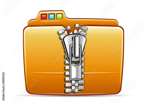 folder icon with zip