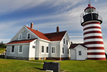 West Quoddy Head Lighthouse, Maine (USA)