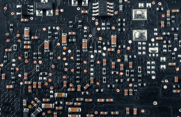 Electronic board closeup photo