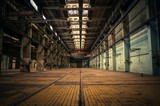 Fototapety An abandoned industrial interior