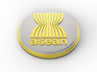 Asean Economic Community, AEC logo gold