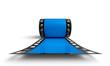 3D Filmrolle - Blau Frontal Ansicht