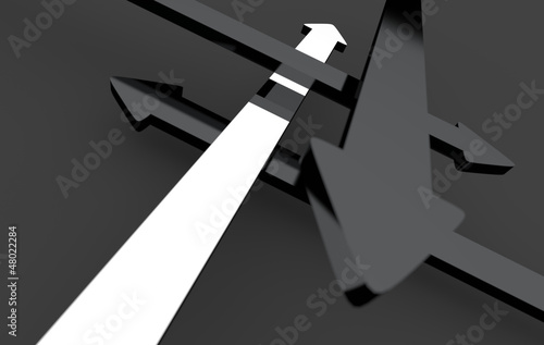 Finde den richtigen Weg - Silber Schwarz 2