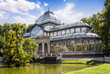 Leinwanddruck Bild - Crystal Palace in the Retiro Park, Madrid, Spain