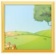 A beautiful landscape photo frame
