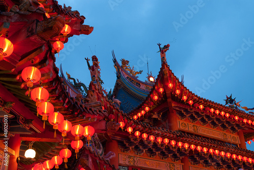 chinese new year temple docrations