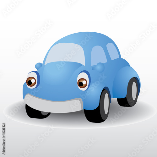 Spoed canvasdoek 2cm dik Cars beetle car vector
