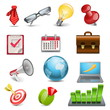 Vector business elements icons
