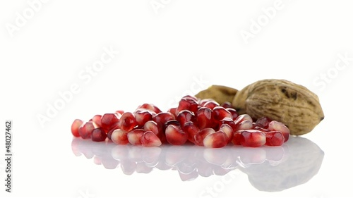 Pomegranate seed pile