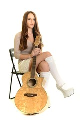 Young girl with guitar.