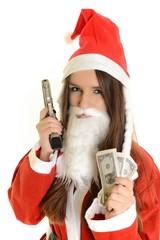 Santa with shotgun