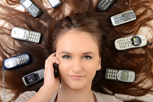 Girl and smartphone
