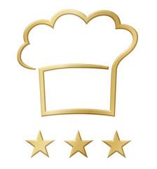 Sterneküche - Logo mit Goldeffekt