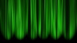 Green Curtains open, white background