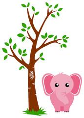 Tree and Elephant