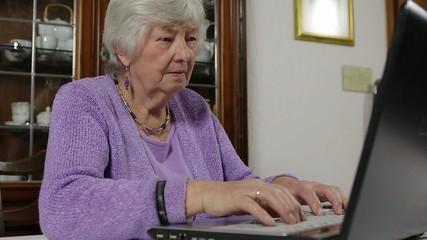 Unsicherheit von Rentnerin am PC