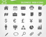 Business web vector icons