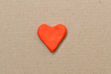Plasticine heart Valentine's Day