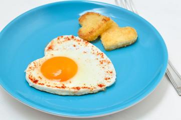 Fried egg and toast