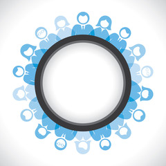people in round circle stock vector